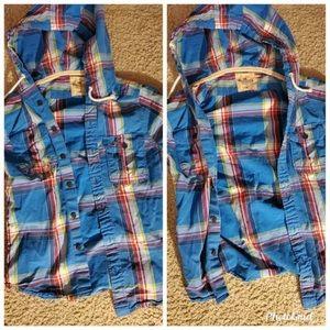 Men Hollister bottom down shirt